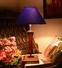 Yashasvi Blue Wooden Table Lamp