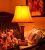 Qualdi Yellow Wooden Table Lamp by Yashasvi