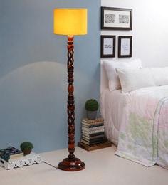 Yellow Fabric Floor Lamp - 1693750