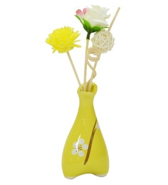 Yellow Floral Reed Sticks Aroma Oil Diffuser