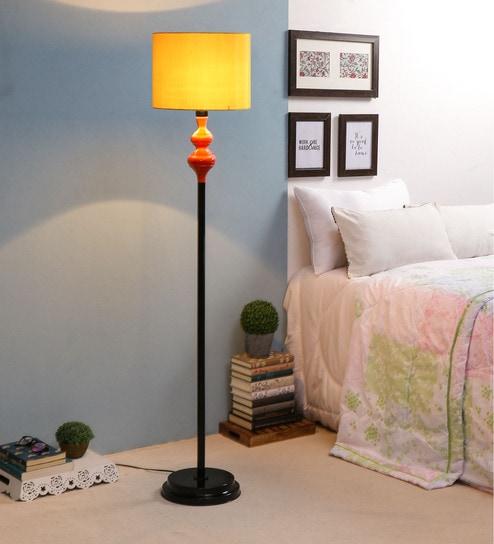 Yellow Fabric Floor Lamp - 1693602