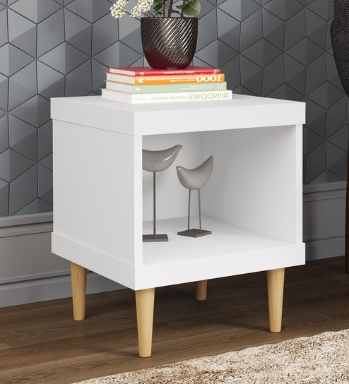 85275e346bc Buy Yemon Bed Side Table in White Finish by Mintwud Online - Modern ...