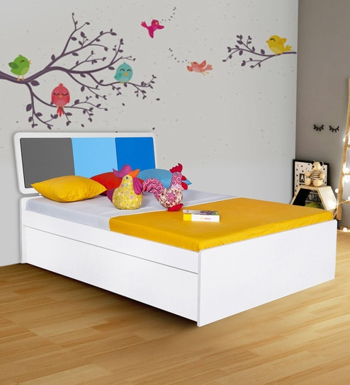 Buy Young America Queen Bed In Blue By Alex Daisy Online Kids