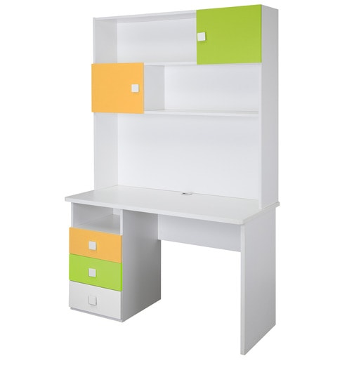 Buy Young America Study Table In Yellow And Green Colour By Alex