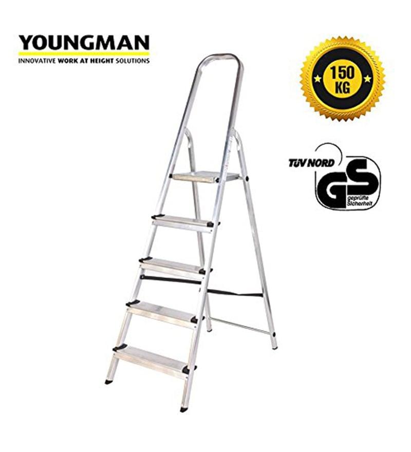 Youngman Classic Aluminium 5 Steps 5.5 FT Ladder