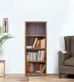 Yuko Four Tier Book Shelf in Columbia Walnut Finish