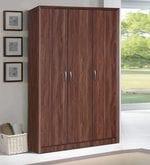 Yuko Three Door Wardrobe in Columbia Walnut Finish