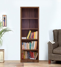 Yuko Five Tier Book Shelf In Columbia Walnut Finish