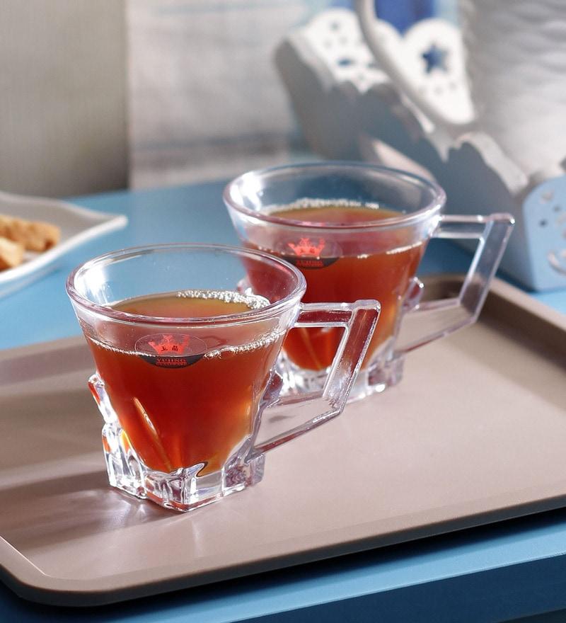Yujing Classic Glass 225 ML Tea Cups Set - Set of 6