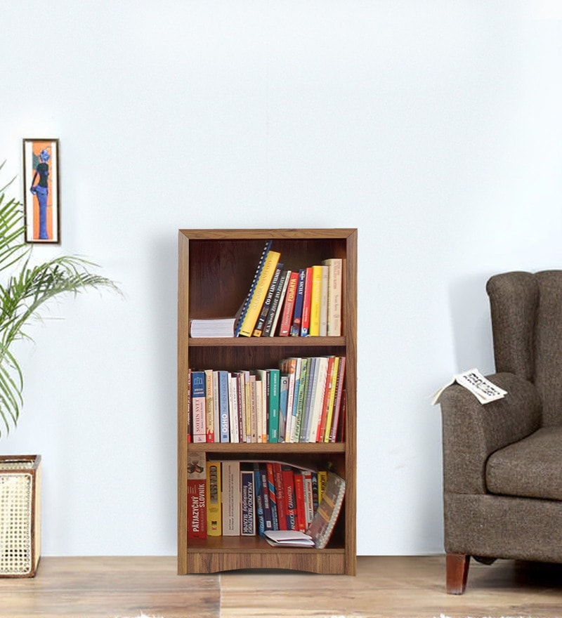 Yuko Three Tier Book Shelf in Columbia Walnut Finish by Mintwud