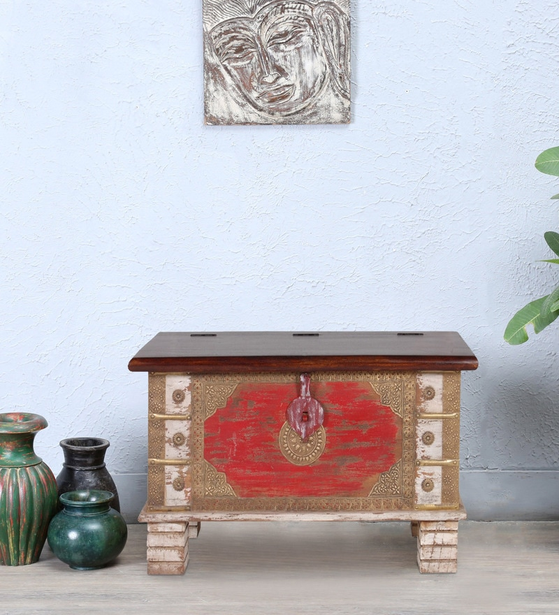 Yuna (Trunk) with Repousse Work in Distress Finish by Bohemiana
