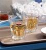 Yujing Splash 300 ML Whisky Tumbler Glasses - Set of 6