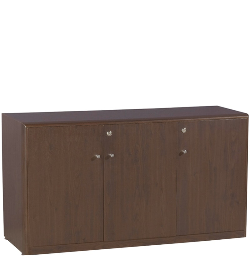 buy z line low height storage cabinet with three doors in wenge colour by spacewood online. Black Bedroom Furniture Sets. Home Design Ideas