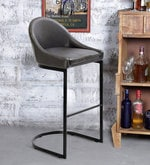 Zack Bar Stool in Dark Brown Colour