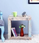 Zack End Table in Distress Finish