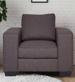Zaira One Seater Sofa in Dark Grey Colour