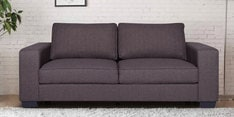 Zaira Three Seater Sofa in Dark Grey Colour