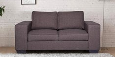 Zaira Two Seater Sofa in Dark Grey Colour