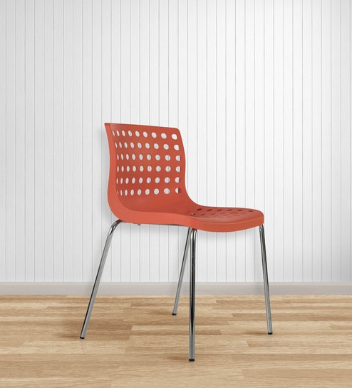 Zack Accent Chair in Orange Colour by Durian