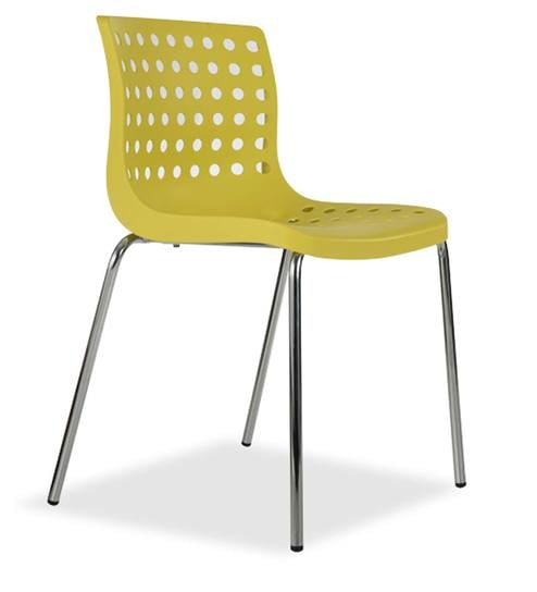 Zack Accent Chair in Yellow Colour by Durian