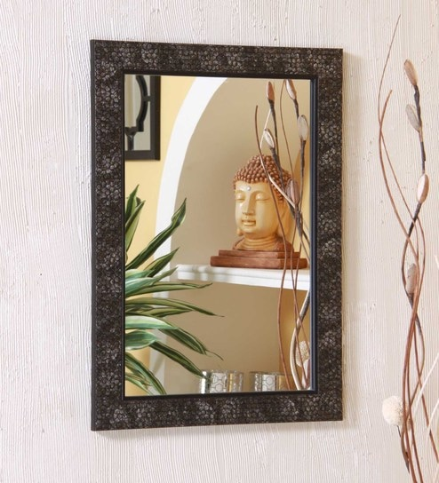 black framed bathroom mirrors. Zahab Black MDF 12 X 1 18 Inch Framed Bathroom Mirror Mirrors M