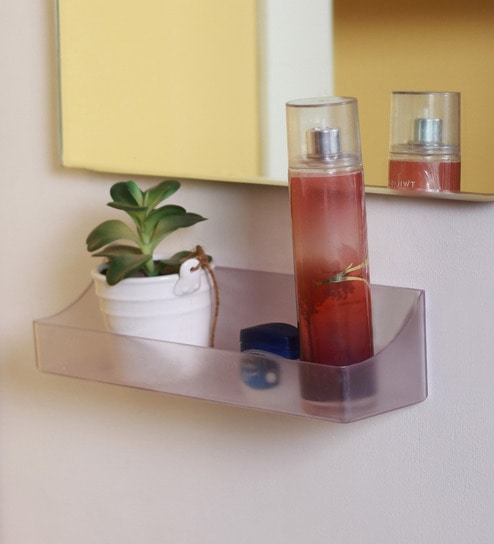 Zahab Transparent Abs 12 X 3 X 3 Inch Unbreakable Shampoo Shelf