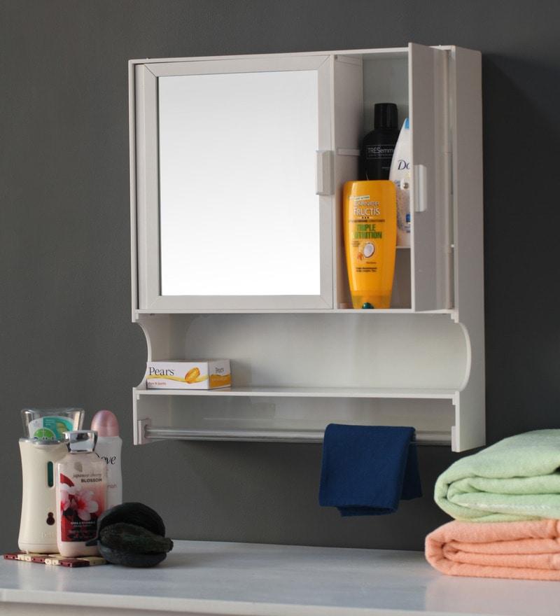 Buy White Acrylic Bathroom Cabinet By Zahab Online Bathroom Cabinets Bath Storage Pepperfry