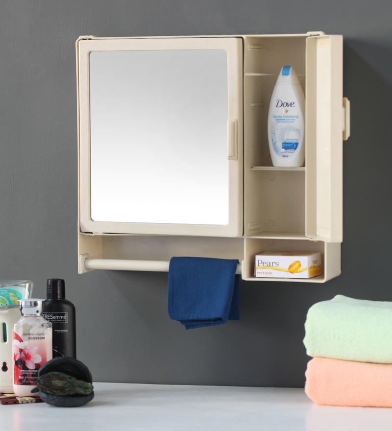 buy zahab cream plastic bathroom cabinet online bathroom cabinets bath storage pepperfry