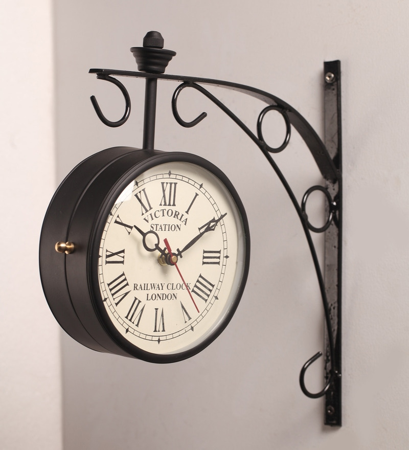 double side clock wall clocks click to zoom inout