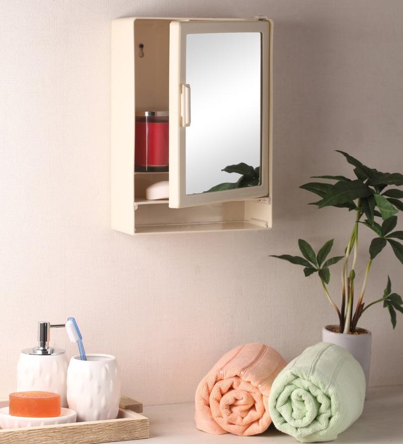 Zahab Style Single Door Plastic Cabinet with Shelf