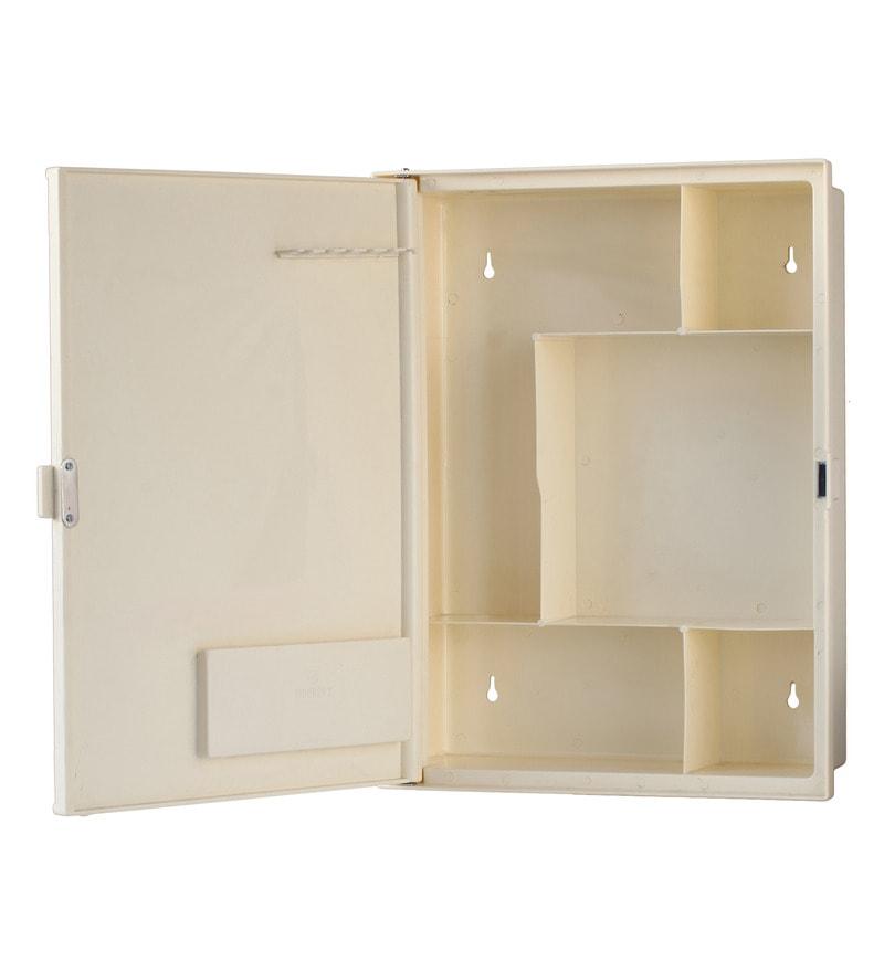 Buy zahab duster single door plastic cabinet cream online for Zahab bathroom cabinets