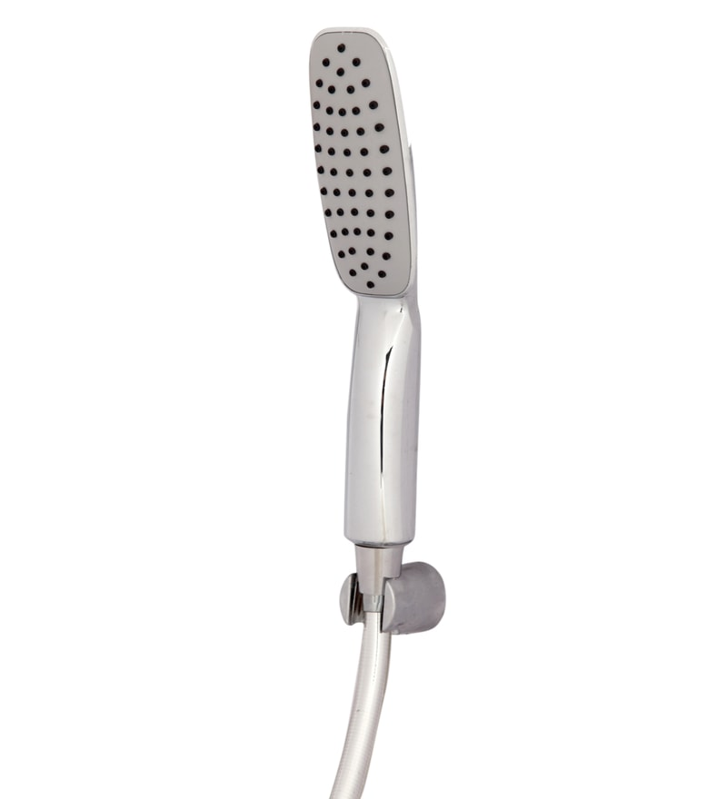 Zahab Silver ABS 8 Inch Hand Shower with Tube & Hook