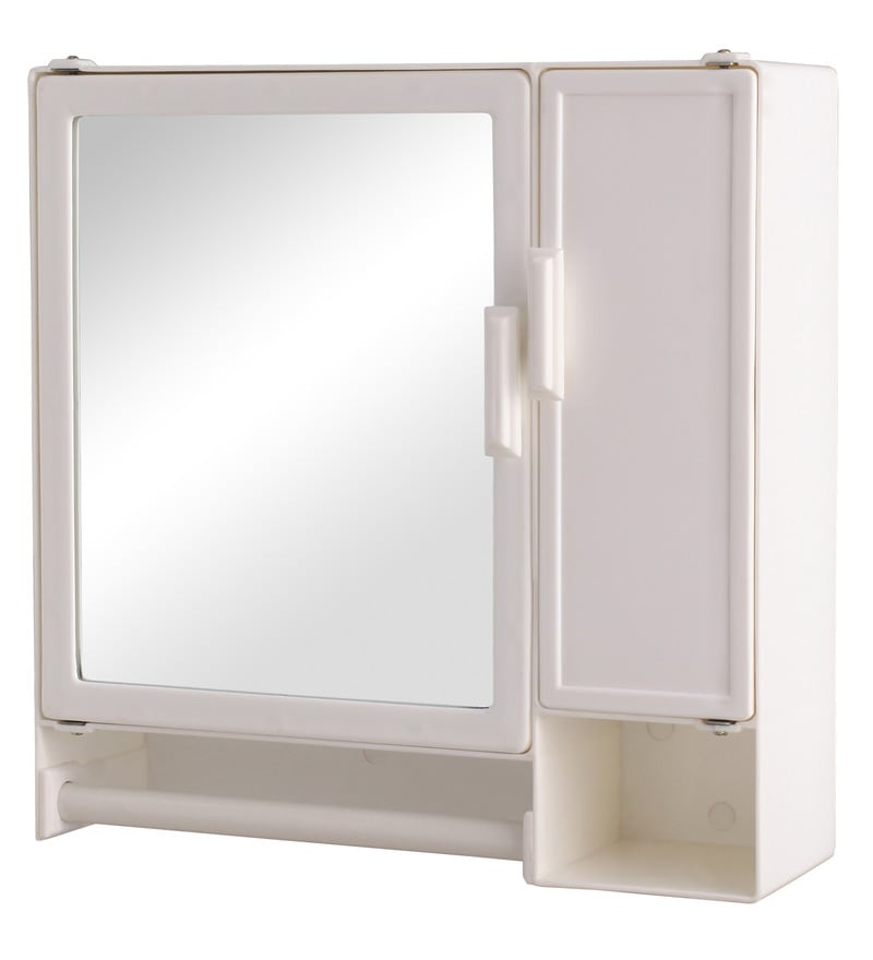 Buy zahab action two door plastic cabinet white online for Zahab bathroom cabinets