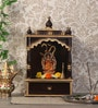 Brown & Gold MDF Hand Carved Temple by Zahab