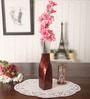 Brown Aluminium Manhuna Flower Vase by Zahab