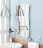 Zahab Brown Glass Wall Mounted Bathroom Mirror