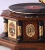 Brown Wooden Gramophone with Record by Zahab