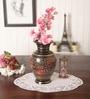 Multicolour Brass Kashmiri Pot Hand Carving Flower Vase by Zahab