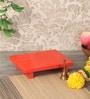 Zahab Orange Ply Wood Handcraft Puja Patla