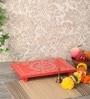 Orange Ply Wood Handcraft Puja Patla by Zahab