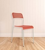 Zeal Accent Chair in Orange Colour