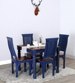 Zena Four Seater Dining Set in Dual Tone Finish