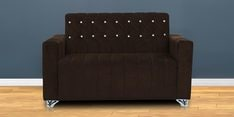 Zeba Two Seater Sofa in Dark Brown Colour