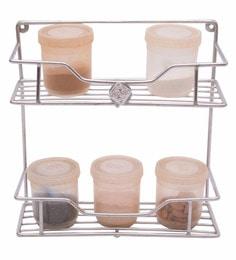 Zecado Stainless Steel 2 Tier Kitchen Kitchen Shelf, 12 Inches
