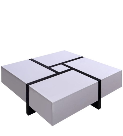 Zen Coffee Table In White U0026 Black Colour By Evok