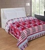 Zesture Bring Home Pink Polyester Floral 90 x 90 Inch Double Bed Blanket