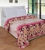Purple Polyester Floral 90 x 90 Inch Double Bed Blanket by Zesture Bring Home
