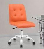Zingy Ergonomics Chair in Orange Leatherette