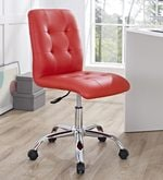 Zingy Ergonomics Chair in Red Leatherette