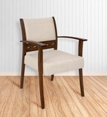 Zinnia Arm Chair in Beige Colour